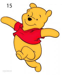 How to Draw Winnie the Pooh Step 14