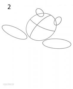 How to Draw Winnie the Pooh Step 2