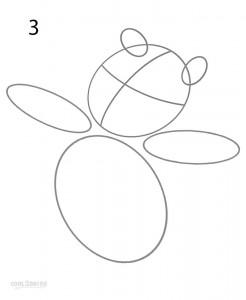 How to Draw Winnie the Pooh Step 3