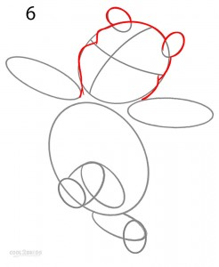 How to Draw Winnie the Pooh Step 6