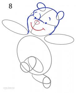 How to Draw Winnie the Pooh Step 8