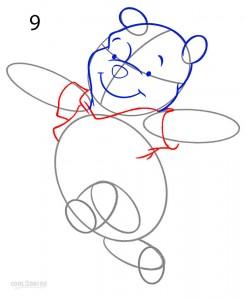 How to Draw Winnie the Pooh Step 9