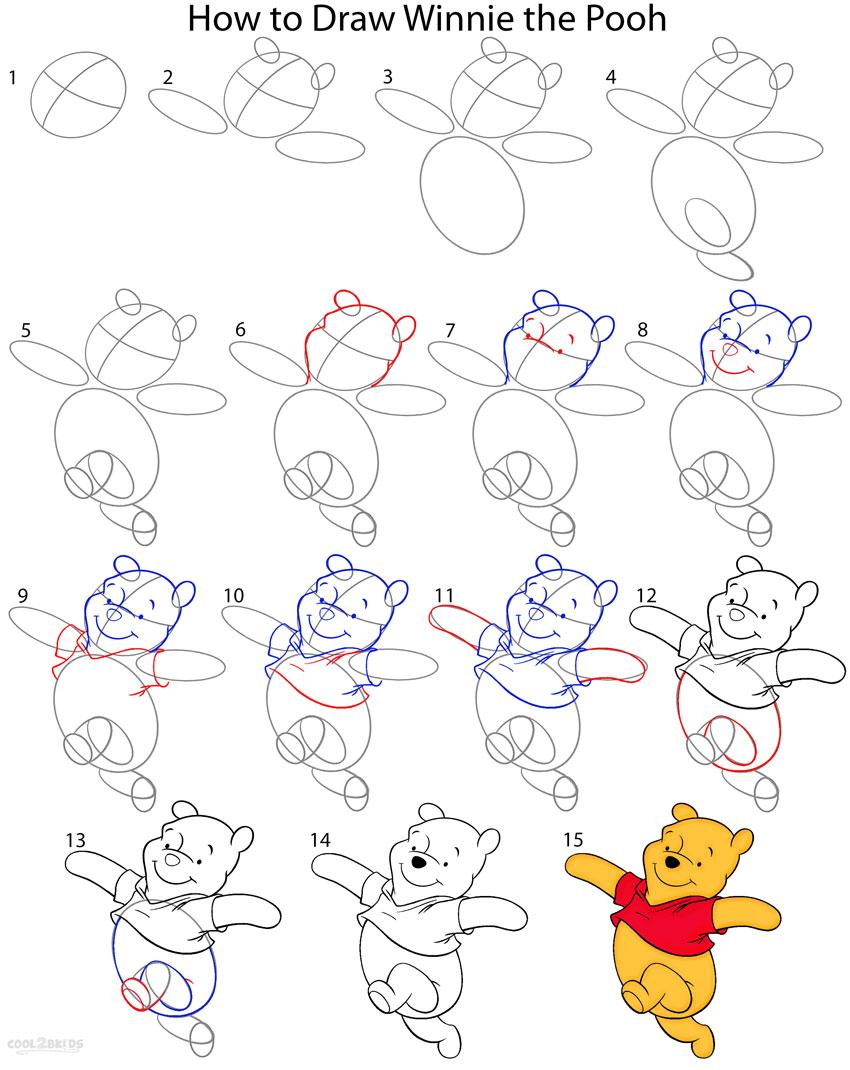 Uncategorized Winnie The Pooh How To Draw how to draw winnie the pooh step by pictures cool2bkids step