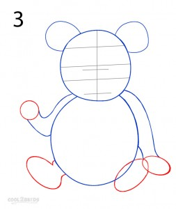 How to Draw a Panda Step 3