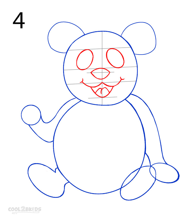 panda drawing step by step - photo #17