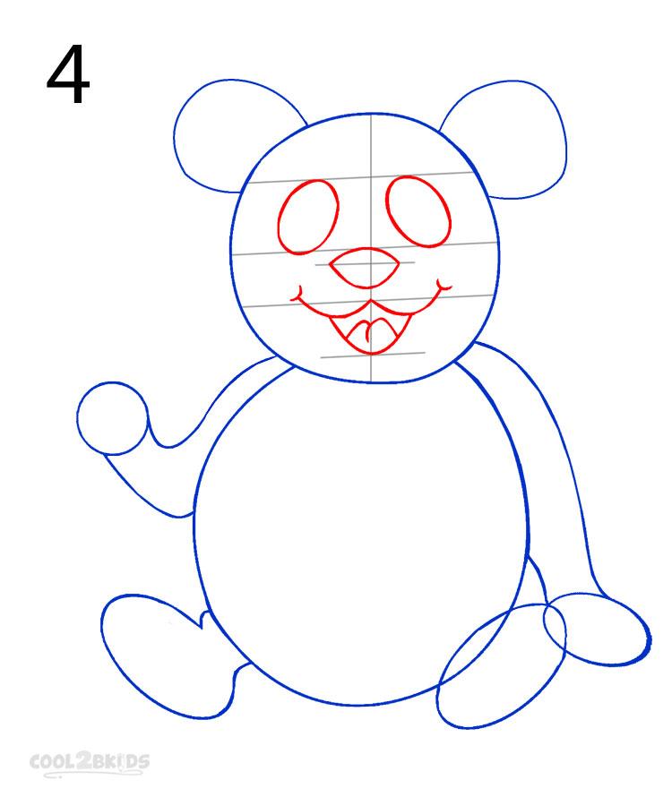 panda drawing step by step - photo #17