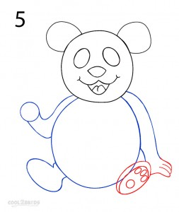 How to Draw a Panda Step 5