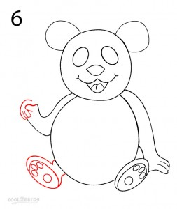 How to Draw a Panda Step 6