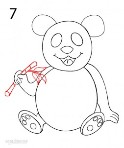 How to Draw a Panda Step 7