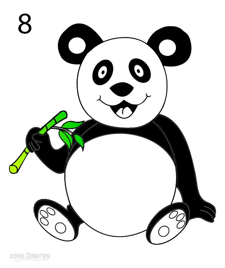 panda drawing step by step - photo #32