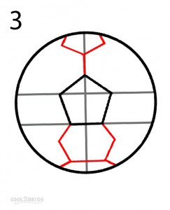 How to Draw a Soccer Ball Step 3