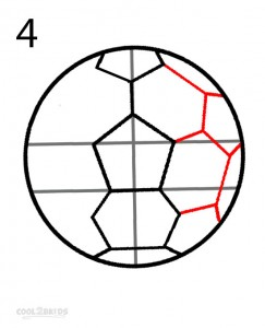 How to Draw a Soccer Ball Step 4