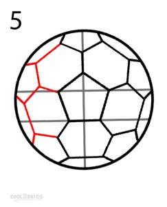 How to Draw a Soccer Ball Step 5