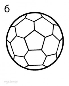 How to Draw a Soccer Ball Step 6