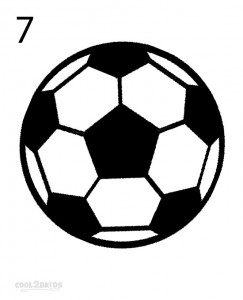 How to Draw a Soccer Ball Step 7