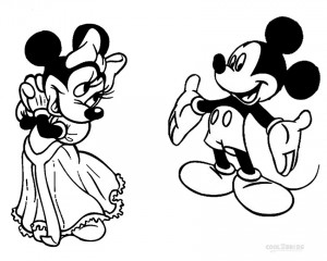 Printable Minnie Mouse Coloring Pages For Kids