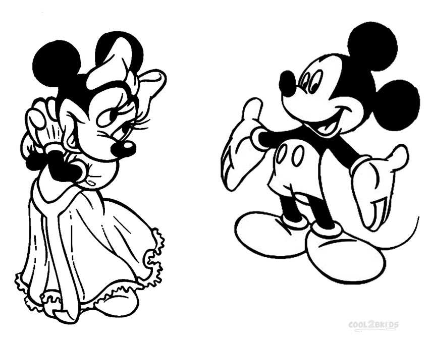 Printable Minnie Mouse Coloring Pages For Kids Cool2bkids Minnie And Mickey Coloring Page