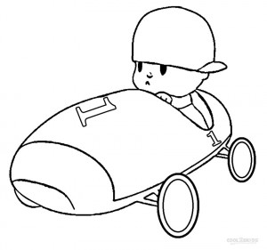 Pocoyo Cartoon Coloring Pages