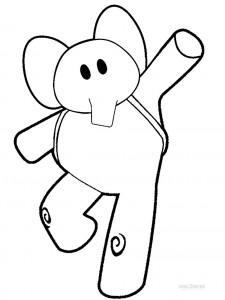 Pocoyo Elly Coloring Pages