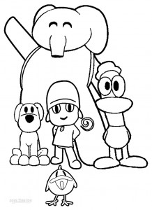 Pocoyo Para Colorear Coloring Pages
