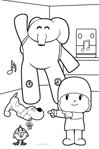 Pocoyo Party Coloring Pages