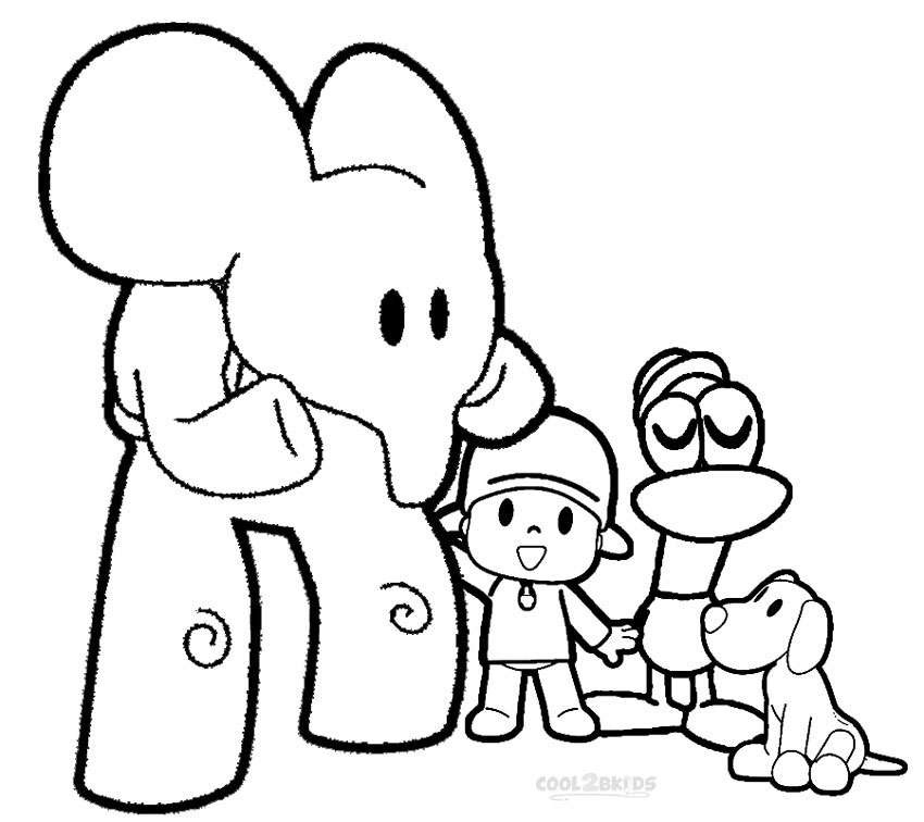 pocoyo coloring pages online - printable pocoyo coloring pages for kids cool2bkids