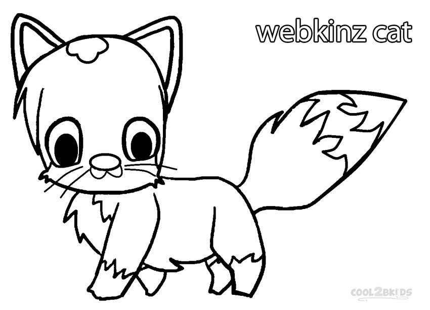 Webkinz Cat Coloring Pages