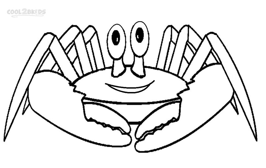Blue crab coloring pages