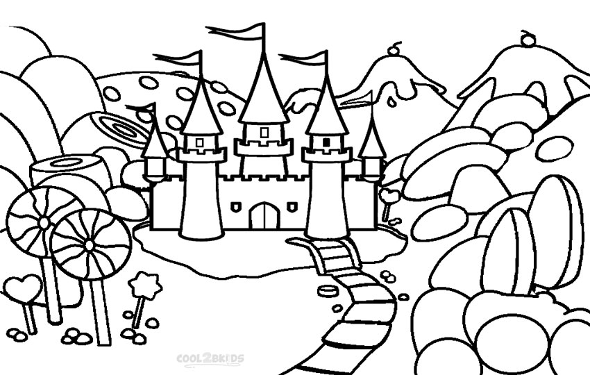Charmant Candy Castle Coloring Pages