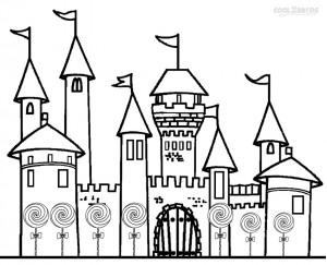 Candyland Castle Coloring Pages