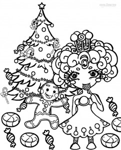 Candyland Christmas Coloring Pages
