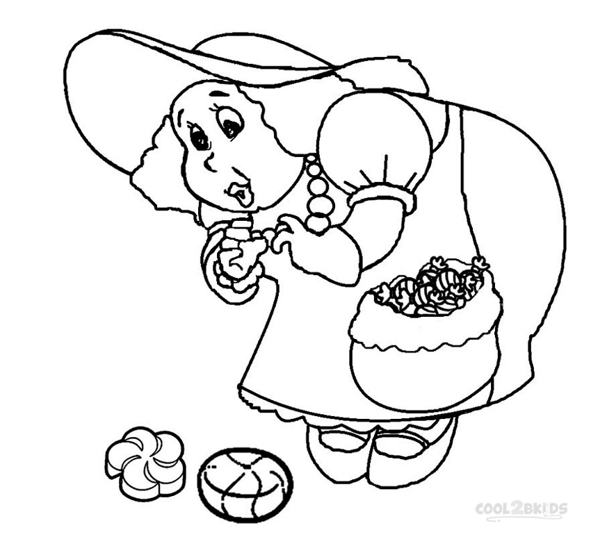 Candyland Coloring Pages Grandma Nut
