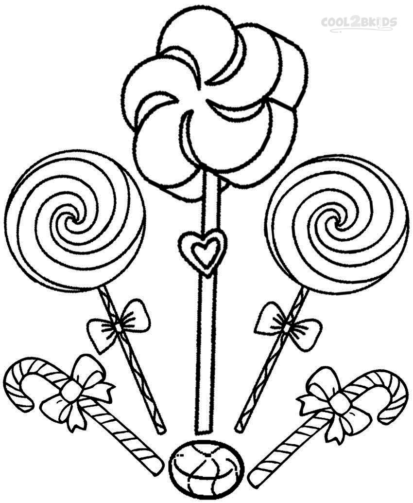 Generic princess coloring pages - Candyland Coloring Pages