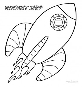 Cartoon Rocket Ship Coloring Pages