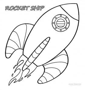 Cartoon Rocket Ship Coloring Pages