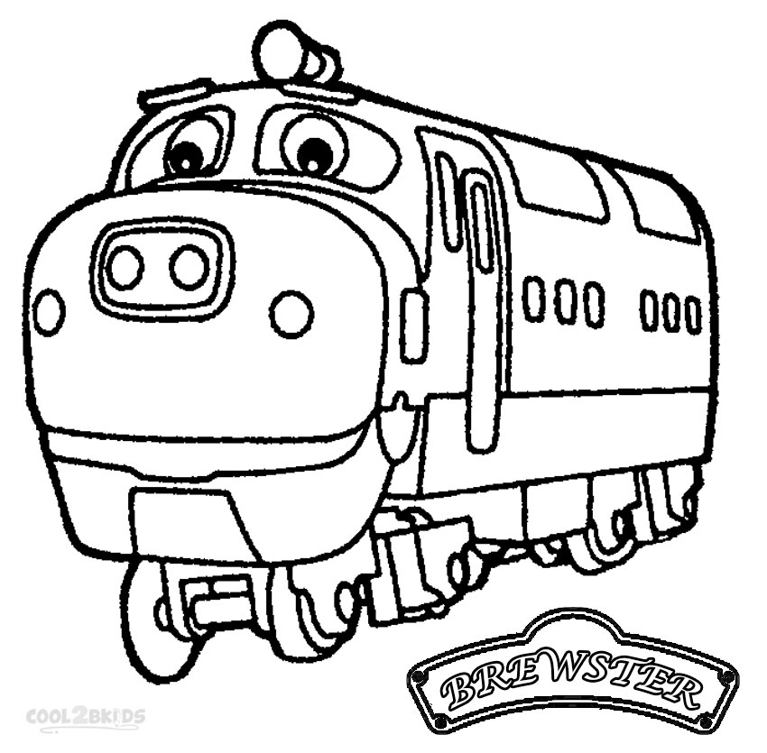 Chuggington brewster coloring pages