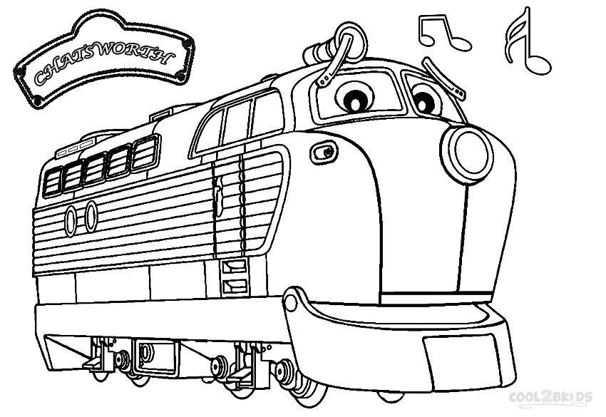 chuggington coloring pages - Chuggington Wilson Coloring Pages