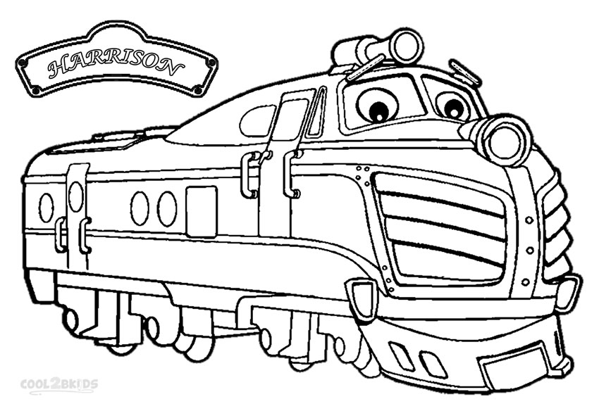 chuggington harrison coloring pages - Chuggington Wilson Coloring Pages