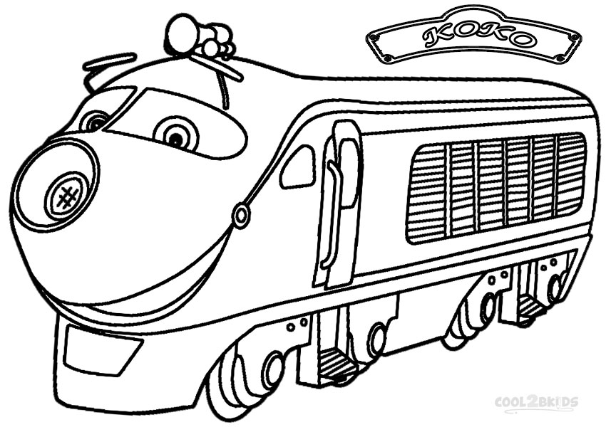Chuggington koko coloring pages