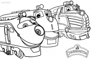 Chuggington Train Coloring Pages