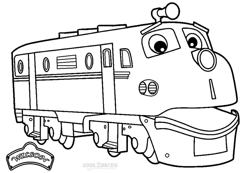chuggington wilson coloring pages - Chuggington Wilson Coloring Pages
