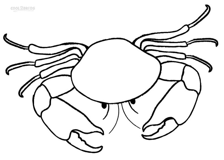 Crab Coloring Sheet