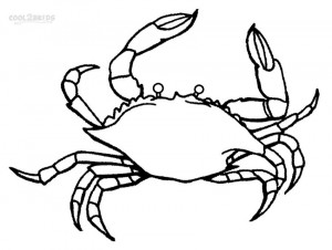 Printable Crab Coloring Pages For