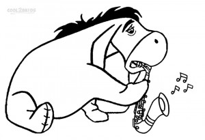 Disney Eeyore Coloring Pages