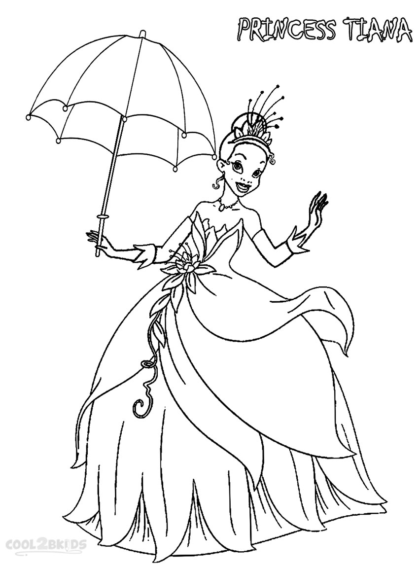 Disney Princess Tiana Coloring Pages