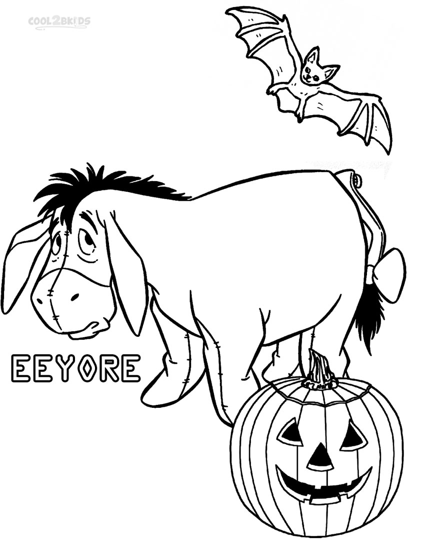 eeyore halloween coloring pages