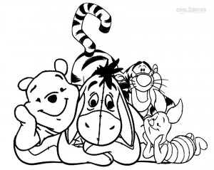 Eeyore and Friends Coloring Pages