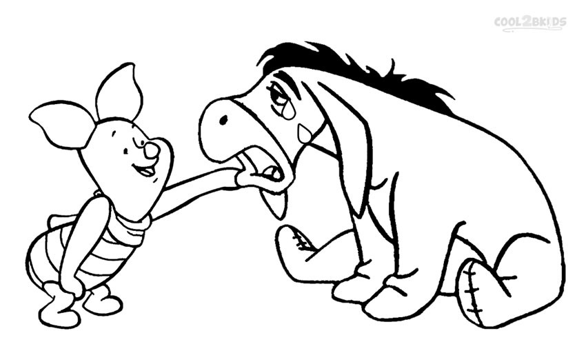 Eeyore And Piglet Coloring Pages