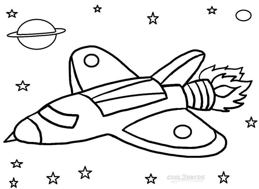 High Quality Kids Rocket Ship Coloring Pages