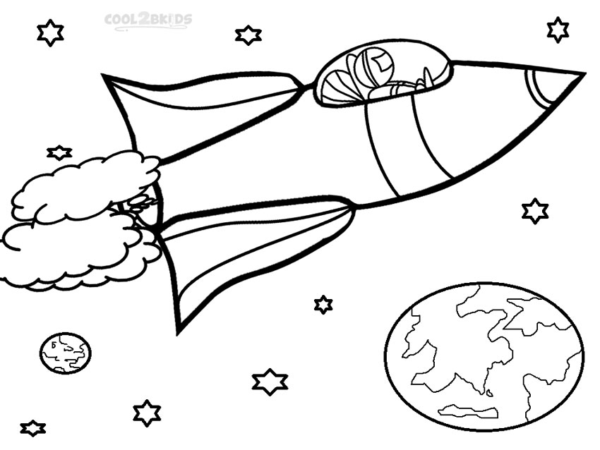Printable Rocket Ship Coloring Pages For Kids | Cool2bKids